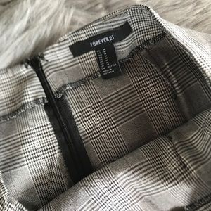 Forever 21 Skirts - Forever 21 Grey Plaid Faux Wrap Skirt
